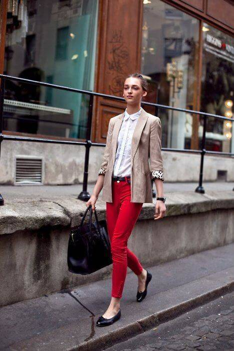 best Hot Red Pants Outfits Ideas