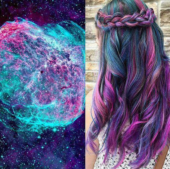 How to Do Galaxy Hair At Home Easy To Copy width=