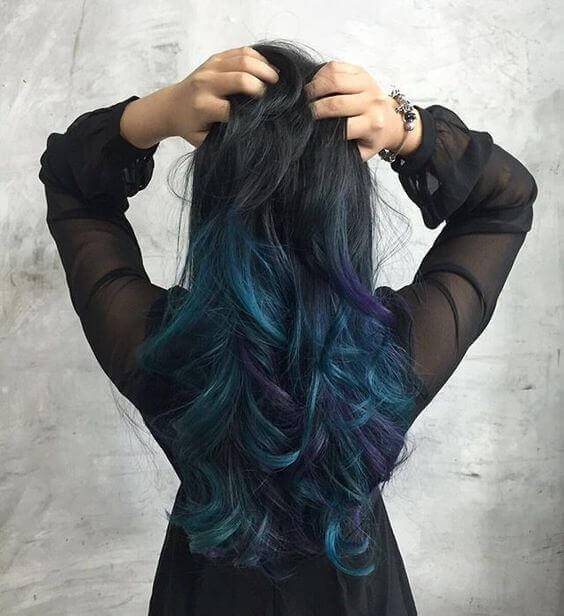 How To Do Galaxy Hair At Home Galaxy Hair Trend Ideas