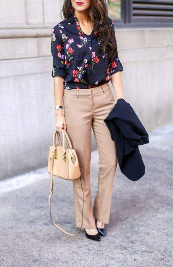 Printed Blouse for Office Attire