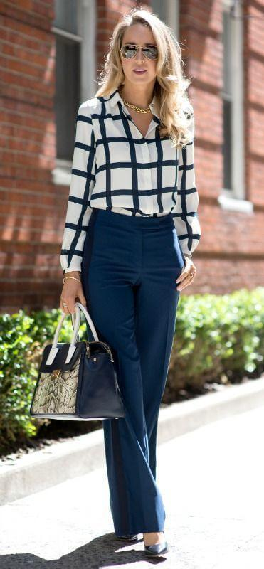 Embroidered Blouse with Denim
