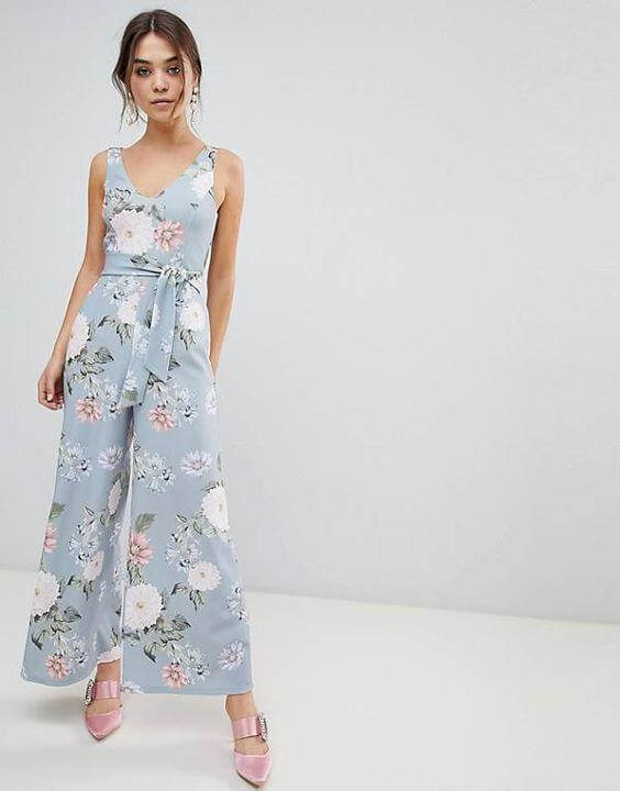 Jumpsuit with Floral Print