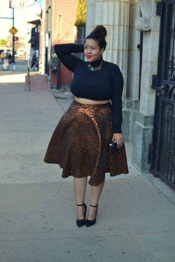 Skater Skirt Outfit Plus Size