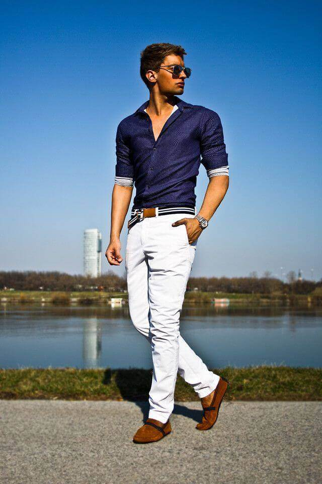 c77a86537dc 18 Best White Jeans Outfit Ideas for Men and Women - Miss Prettypink
