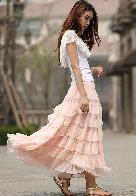 How to Wear a Maxi Skirt Fashionably? - Miss Prettypink