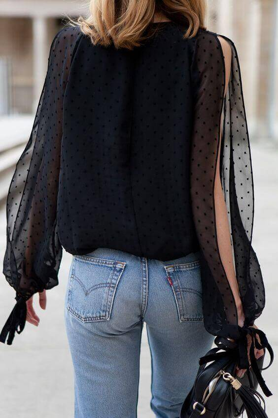 Flowy Sleeves with Slit Opening