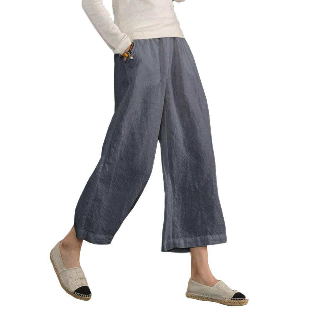 Cotton Wide Legs Pants