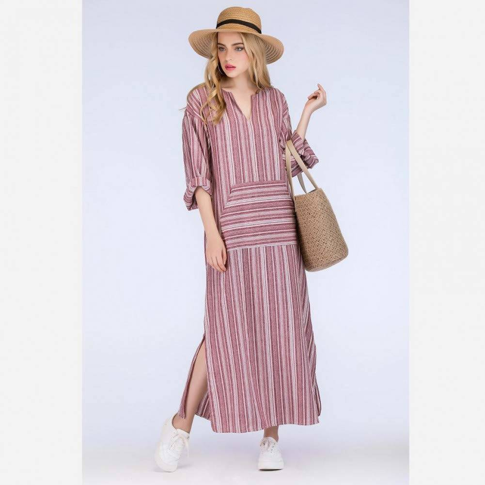 stripe Cotton Pocket Dress