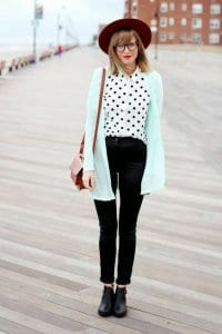 a girl with polka dots Button-down shirt