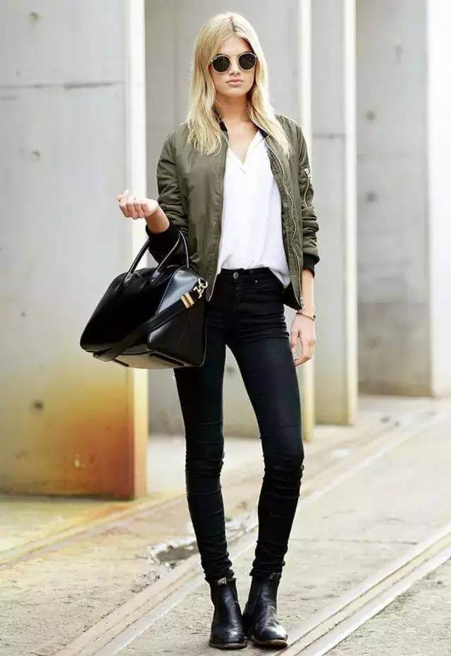 8 Styling Tips to Dress up a Bomber Jacket (9)