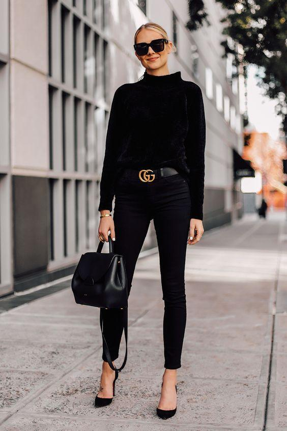 How To Wear All-Black: 30 Looks Will Inspire You - Styling Tips