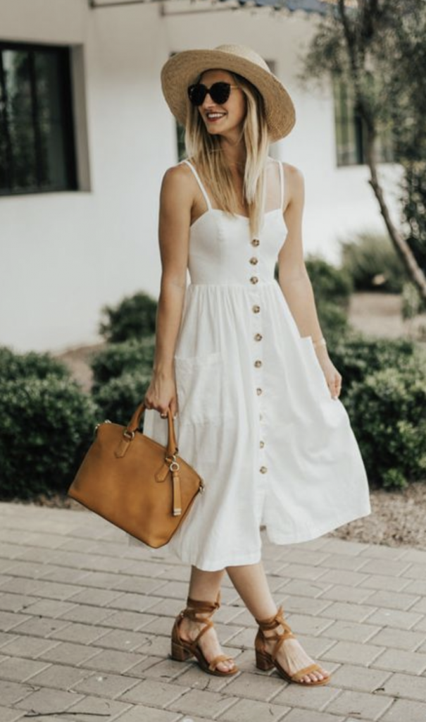 White Dress Outfit: 6 Color Combination & Outfit Ideas