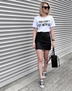 32682c50228f If you're still wondering what to wear with a leather skirt outfit, here  are other cool and casual ideas that exclude t-shirts, giving other top  options ...