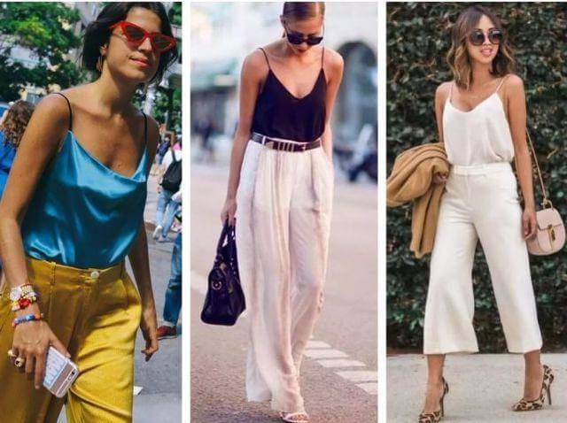 Tops (slingsTee) + Wide Leg Pants