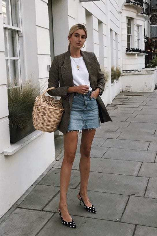 sports shoes skate shoes new list Jean Skirt Outfits: 32 Chic Ways To Wear A Denim Skirt