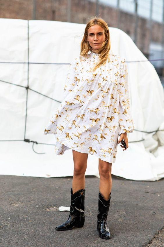 8 Dresses to Wear With Cowboy Boots for Modern Western Style