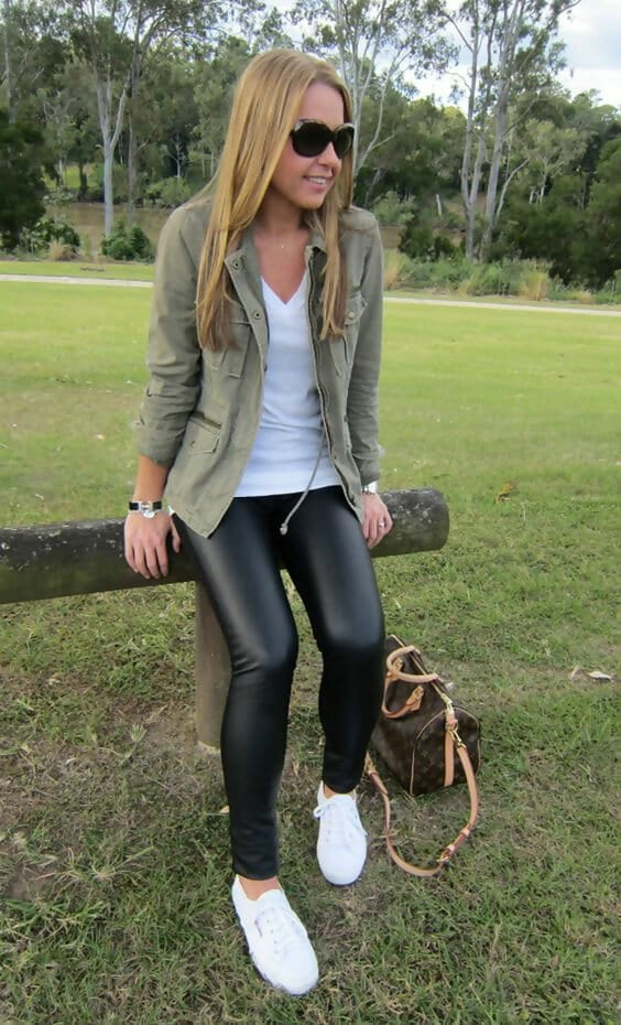 43 Leather Leggings Outfits That Will Make You Look Amazing