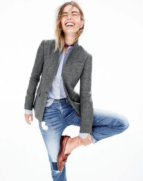 """153180b0ecc7ef The thing about blazers is that they already have a """"professional"""" vibe,  which is perfect for a nerdy attire because it instantly gives ..."""