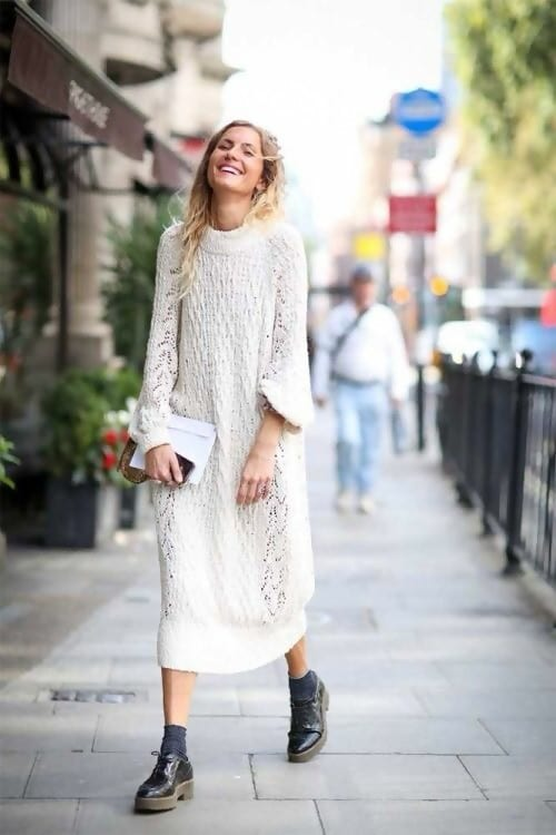 How to Wear a Sweater Dress 6 Cool Outfit Ideas