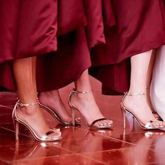 What Color Shoe To Wear With Red Dress